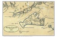 Martha's Vineyard and the Islands 1795 Osgood Carleton - Old Map Custom Print