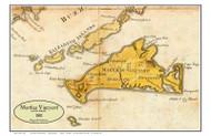 Martha's Vineyard and the Islands 1801 Osgood Carleton - Old Map Custom Print