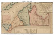 Martha's Vineyard 1858 H.F. Walling - Old Map Custom Print