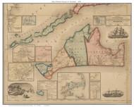 Martha's Vineyard & The Islands 1858 H.F. Walling - Old Map Custom Print