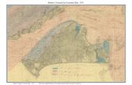Martha's Vineyard Ice Formation Map 1874 US Coast Survey - Old Map Custom Print