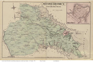 Second District - Horn Point, Taylorsville, Waterbury, Maryland Anne Arundel Co. 1878 Old Map Reprint - Anne Arundel County Atlas