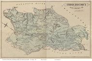 Third District - Waterford, Jacobsville, St Margarets, Marley, Maryland Anne Arundel Co. 1878 Old Map Reprint - Anne Arundel County Atlas