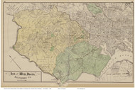 First and Thirteenth Districts - Catonsville, Ulrich, Franklin, Maryland Baltimore Co. 1878 Old Map Reprint - Anne Arundel County Atlas