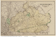 Ninth District - Towsontown, Hampton, Govanstown, Lutherville, Maryland Baltimore Co. 1878 Old Map Reprint - Anne Arundel County Atlas