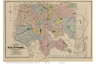City of Baltimore, Maryland Baltimore Co. 1878 Old Map Reprint - Anne Arundel County Atlas