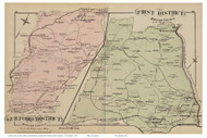 First District and Guilford District - Ilchester, Hanover, Maryland Howard Co. 1878 Old Map Reprint - Anne Arundel County Atlas