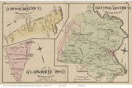 Second District, Cross District, Clarksville District, Maryland Howard Co. 1878 Old Map Reprint - Anne Arundel County Atlas