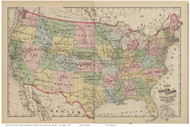 Map of the United States and Territories, Maryland 1878 Old Map Reprint - Anne Arundel County Atlas