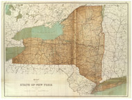 New York State New York 1895 - Other Maps Old Map Custom Reprint - Bien State Atlas