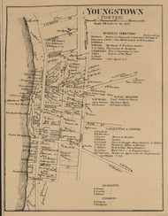 Youngstown Village, Porter New York 1860 Old Town Map Custom Print - Niagara Co.