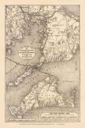Martha's Vineyard 1888 H.F. Walling - Old Map Custom Print