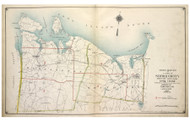 Index 1, Huntington & Smithtown, New York 1917 Old Map Reprint - Suffolk Co. North Vol. 1