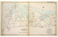 Brookhaven Town (part of) including Port Jefferson, New York 1917 Old Map Reprint - Suffolk Co. North Vol. 1