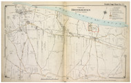 Brookhaven Town (part of) including Rocky Point, New York 1917 Old Map Reprint - Suffolk Co. North Vol. 1
