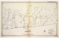 Brookhaven Town (part of) including Whiskey Road, New York 1917 Old Map Reprint - Suffolk Co. North Vol. 1