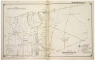 Brookhaven Town (part of) including Yaphank, New York 1917 Old Map Reprint - Suffolk Co. North Vol. 1
