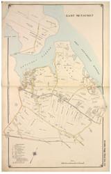 East Setauket - Brookhaven, New York 1917 Old Map Reprint - Suffolk Co. North Vol. 1