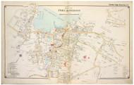 Port Jefferson Village - Brookhaven, New York 1917 Old Map Reprint - Suffolk Co. North Vol. 1