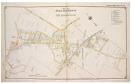 Port Jefferson Station - Brookhaven, New York 1917 Old Map Reprint - Suffolk Co. North Vol. 1