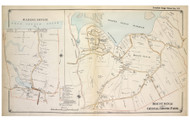 Mount Sinai, Crystal Brook Park, and Wading River - Brookhaven, New York 1917 Old Map Reprint - Suffolk Co. North Vol. 1