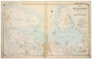 Huntington - North, New York 1917 Old Map Reprint - Suffolk Co. North Vol. 1