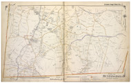 Huntington - South, New York 1917 Old Map Reprint - Suffolk Co. North Vol. 1