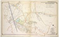 Huntington Village - East, New York 1917 Old Map Reprint - Suffolk Co. North Vol. 1