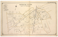 Huntington Station - South, New York 1917 Old Map Reprint - Suffolk Co. North Vol. 1