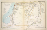 Northport (South) - Huntington, New York 1917 Old Map Reprint - Suffolk Co. North Vol. 1