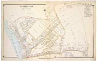 Northport (North) - Huntington, New York 1917 Old Map Reprint - Suffolk Co. North Vol. 1