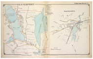 Centerport and Smithtown Villages - Huntington-Smithtown, New York 1917 Old Map Reprint - Suffolk Co. North Vol. 1