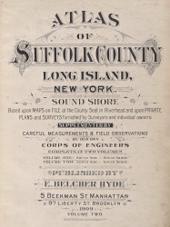 Title Page, New York 1909 - Old Town Map Reprint - Suffolk Co. Atlas North Vol. 2