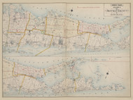 Suffolk Co. Index Map, New York 1909 - Old Town Map Reprint - Suffolk Co. Atlas North Vol. 2