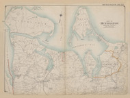 Part of Huntington, New York 1909 - Old Town Map Reprint - Suffolk Co. Atlas North Vol. 2 Page 1