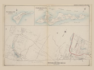 Part of Brookhaven and Riverhead, Plum Island, Fishers Island, New York 1909 - Old Town Map Reprint - Suffolk Co. Atlas North Vol. 2 Page 7