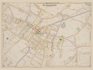 Huntington, New York 1909 - Old Town Map Reprint - Suffolk Co. Atlas North Vol. 2 Page 15