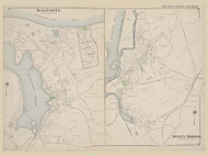 Halesite and Stony Brook, New York 1909 - Old Town Map Reprint - Suffolk Co. Atlas North Vol. 2 Page 18