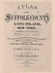 Title Page, New York 1902 - Old Town Map Reprint - Suffolk Co. Atlas South Vol. 1