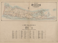 Suffolk Co. Index, New York 1902 - Old Town Map Reprint - Suffolk Co. Atlas South Vol. 1