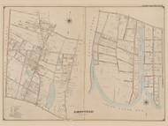 Amityville, New York 1902 - Old Town Map Reprint - Suffolk Co. Atlas South Vol. 1 Page 9