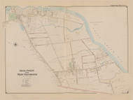 Blue Point and West Patchogue, New York 1902 - Old Town Map Reprint - Suffolk Co. Atlas South Vol. 1 Page 16