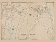 Part of Patchogue and Bellport, New York 1902 - Old Town Map Reprint - Suffolk Co. Atlas South Vol. 1 Page 18