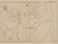 Quogue, Eastport, Speonk, and part of Remsenburg, New York 1902 - Old Town Map Reprint - Suffolk Co. Atlas South Vol. 1 Page 20