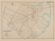 West Hampton, New York 1902 - Old Town Map Reprint - Suffolk Co. Atlas South Vol. 1 Page 21
