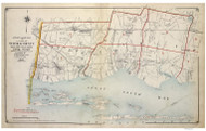 Index 1 Babylon-Islip, New York 1915 Old Map Reprint - Suffolk Co. Atlas South Vol. 1