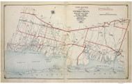 Index 2 Islip-Brookhaven, New York 1915 Old Map Reprint - Suffolk Co. Atlas South Vol. 1