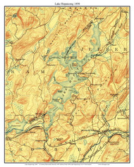 Lake Hopatcong 1898 - Custom USGS Old Topo Map - New Jersey