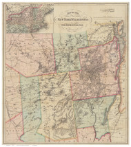 Adirondack Wilderness (Ely) 1880 - Old Map Reprint