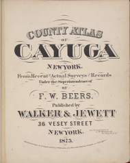 Title Page, New York 1875 - Old Town Map Reprint - Cayuga Co. Atlas